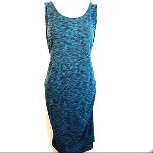 Liz Lange Space Dye Tank Maternity Midi Dress
